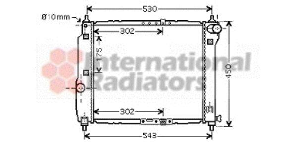 Radiateur, refroidissement du moteur - VAN WEZEL - 81002066