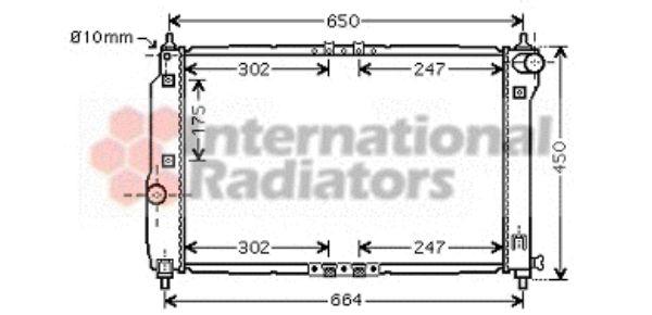 Radiateur, refroidissement du moteur - VAN WEZEL - 81002067