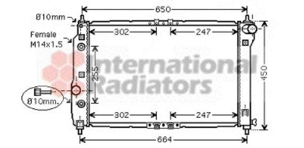 Radiateur, refroidissement du moteur - VAN WEZEL - 81002068