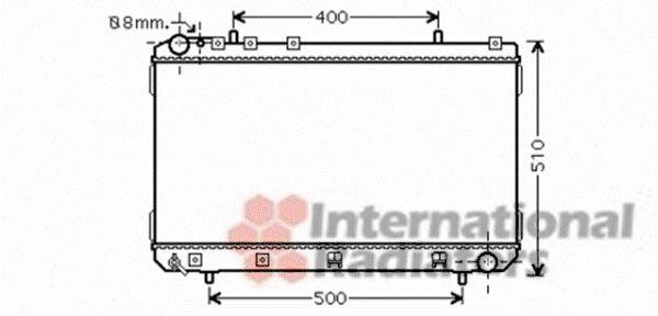 Radiateur, refroidissement du moteur - VAN WEZEL - 81002070