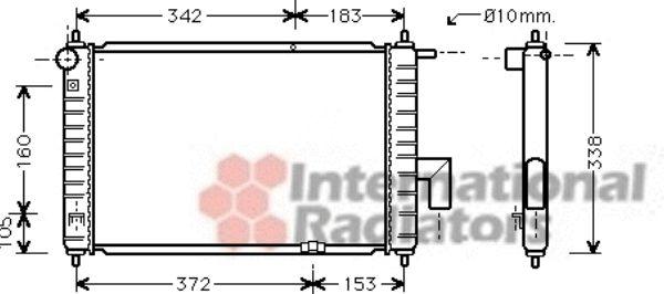 Radiateur, refroidissement du moteur - VAN WEZEL - 81002072