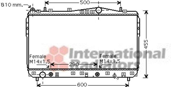 Radiateur, refroidissement du moteur - VAN WEZEL - 81002074