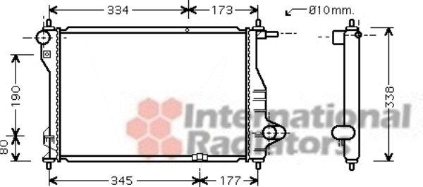Radiateur, refroidissement du moteur - VAN WEZEL - 81002075