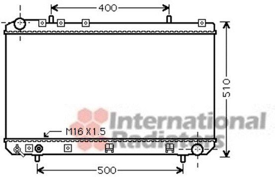 Radiateur, refroidissement du moteur - VAN WEZEL - 81002086