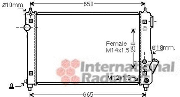 Radiateur, refroidissement du moteur - VAN WEZEL - 81002087