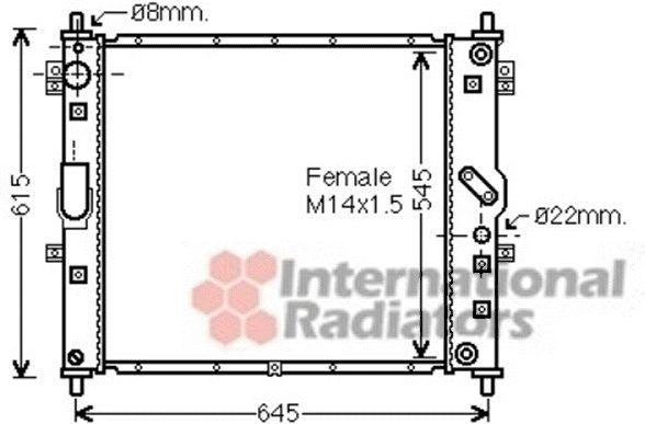 Radiateur, refroidissement du moteur - VAN WEZEL - 81002089