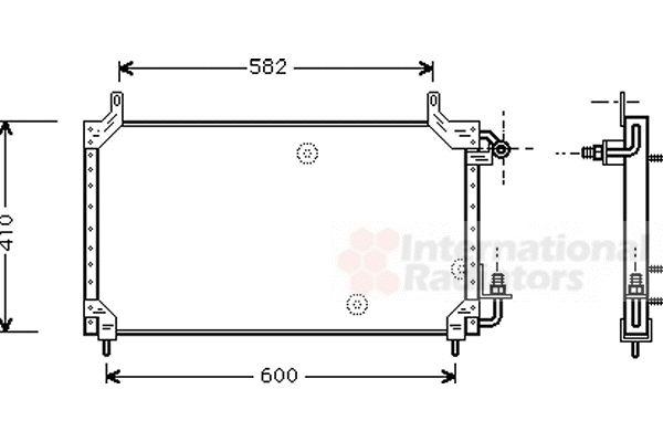 Condenseur, climatisation - VAN WEZEL - 81005006