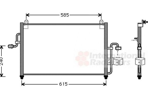 Condenseur, climatisation - VAN WEZEL - 81005011