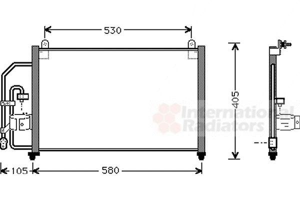 Condenseur, climatisation - VAN WEZEL - 81005012
