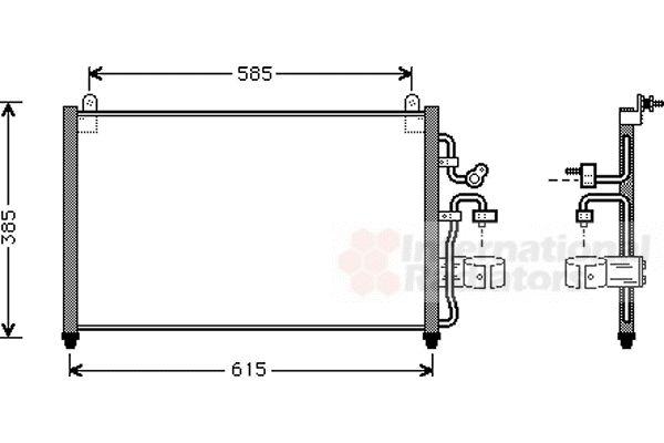 Condenseur, climatisation - VAN WEZEL - 81005013