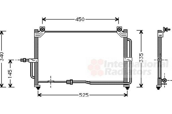 Condenseur, climatisation - VAN WEZEL - 81005028