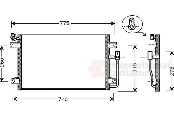 Condenseur, climatisation - VAN WEZEL - 81005030