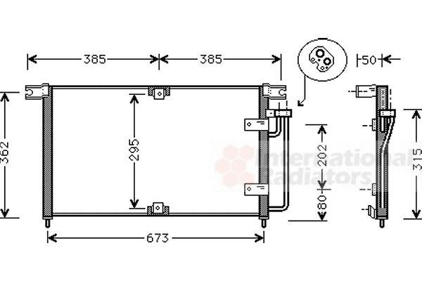 Condenseur, climatisation - VAN WEZEL - 81005032