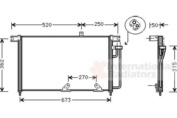 Condenseur, climatisation - VAN WEZEL - 81005033