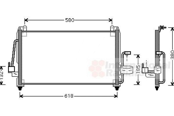 Condenseur, climatisation - VAN WEZEL - 81005040