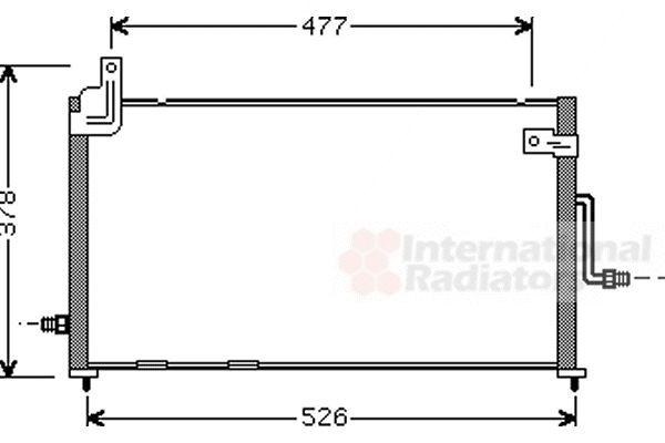 Condenseur, climatisation - VAN WEZEL - 81005044