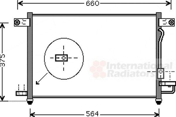 Condenseur, climatisation - VAN WEZEL - 81005049