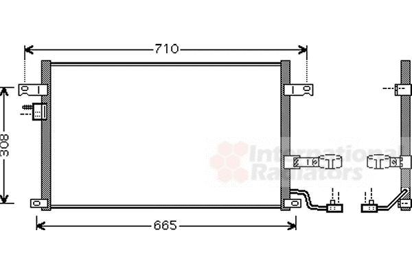Condenseur, climatisation - VAN WEZEL - 81005056