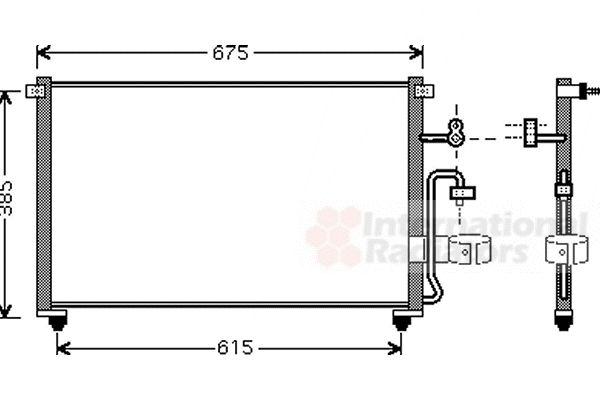 Condenseur, climatisation - VAN WEZEL - 81005063