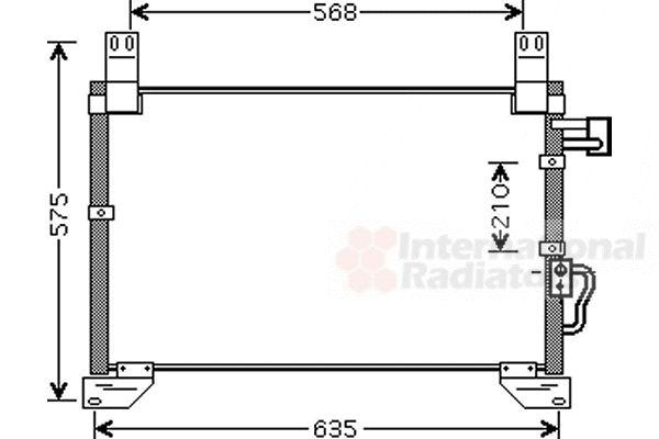 Condenseur, climatisation - VAN WEZEL - 81005076