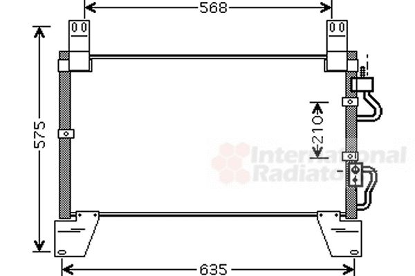 Condenseur, climatisation - VAN WEZEL - 81005077