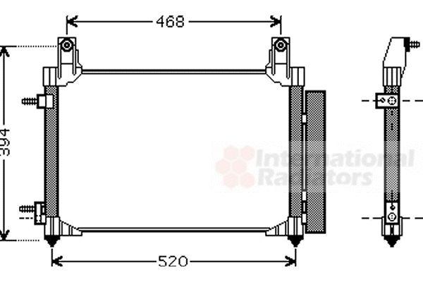 Condenseur, climatisation - VAN WEZEL - 81005081