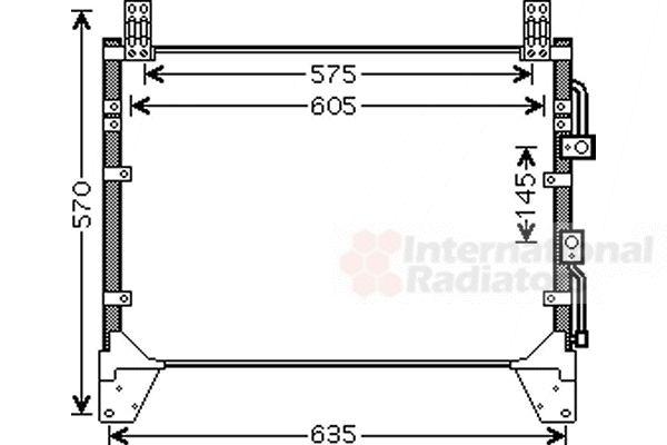 Condenseur, climatisation - VAN WEZEL - 81005083