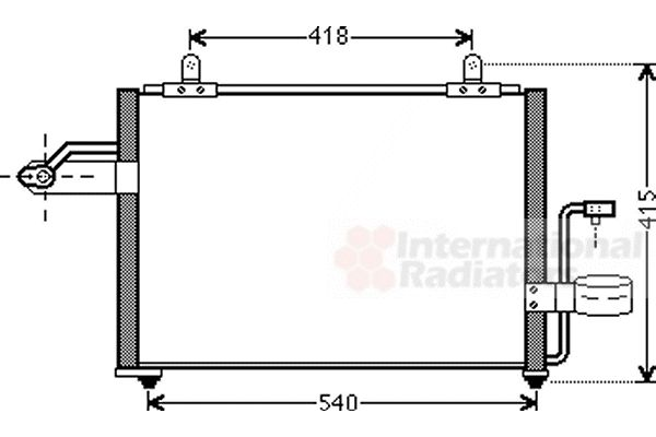 Condenseur, climatisation - VAN WEZEL - 81005084