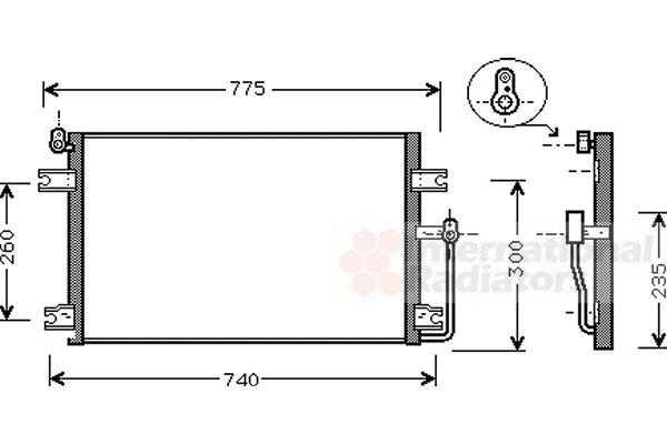 Condenseur, climatisation - VAN WEZEL - 81005085