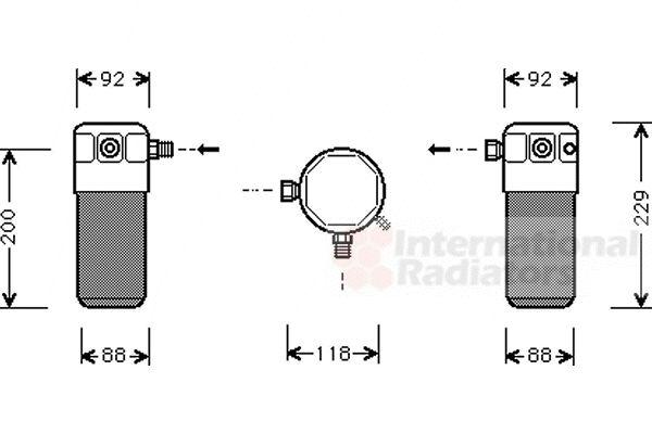Filtre déshydratant, climatisation - VAN WEZEL - 8100D021