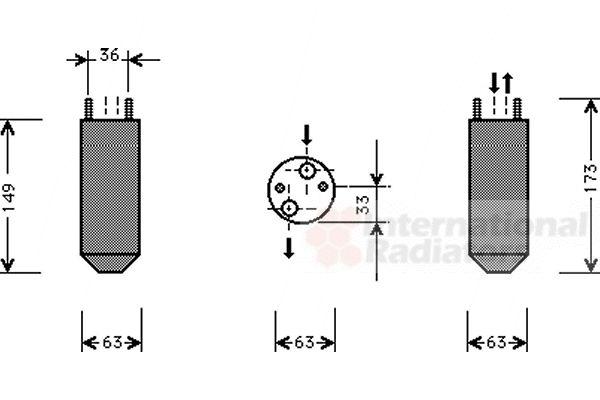 Filtre déshydratant, climatisation - VAN WEZEL - 8100D022