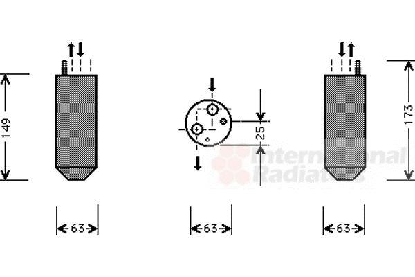 Filtre déshydratant, climatisation - VAN WEZEL - 8100D029