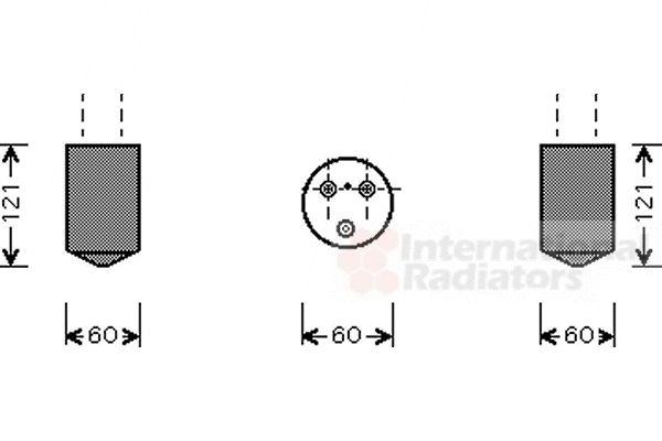 Filtre déshydratant, climatisation - VAN WEZEL - 8100D042