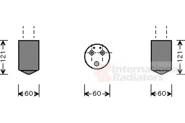 Filtre déshydratant, climatisation - VAN WEZEL - 8100D043