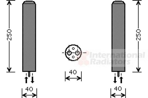 Filtre déshydratant, climatisation - VAN WEZEL - 8100D050