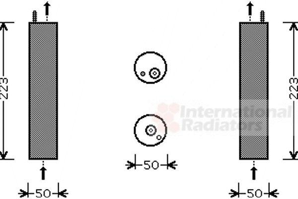 Filtre déshydratant, climatisation - VAN WEZEL - 8100D057