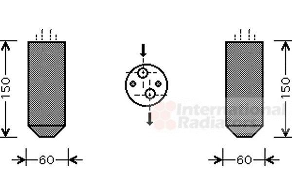 Filtre déshydratant, climatisation - VAN WEZEL - 8100D078