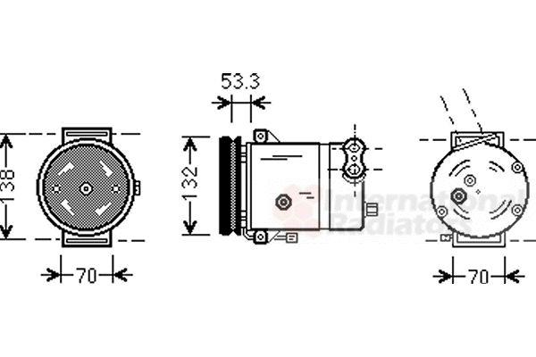 Compresseur, climatisation - VAN WEZEL - 8100K018