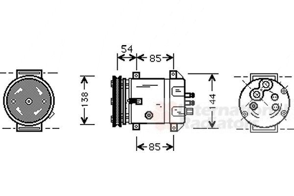 Compresseur, climatisation - VAN WEZEL - 8100K020