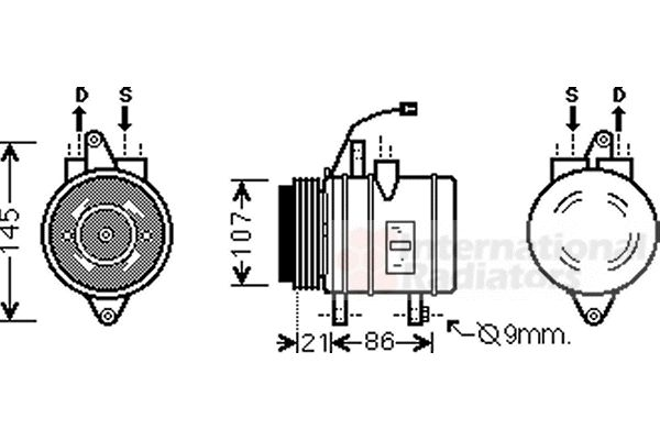 Compresseur, climatisation - VAN WEZEL - 8100K079