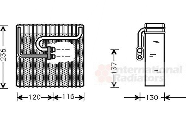 Evaporateur climatisation - VAN WEZEL - 8100V035