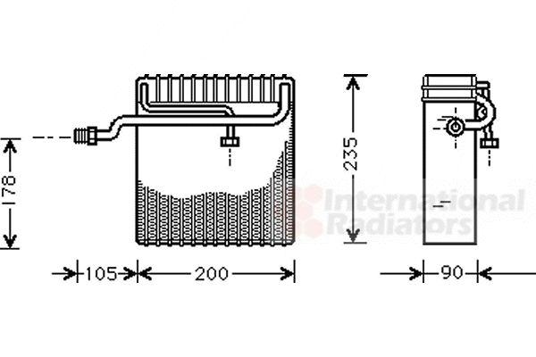 Evaporateur climatisation - VAN WEZEL - 8100V036