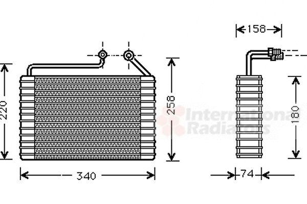 Evaporateur climatisation - VAN WEZEL - 8100V047