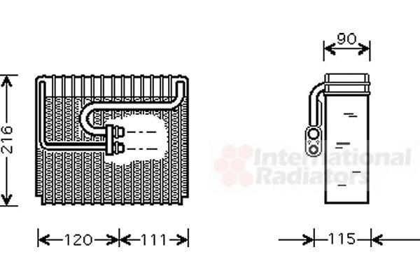 Evaporateur climatisation - VAN WEZEL - 8100V048