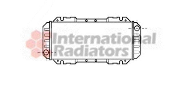 Radiateur, refroidissement du moteur - VAN WEZEL - 18002006