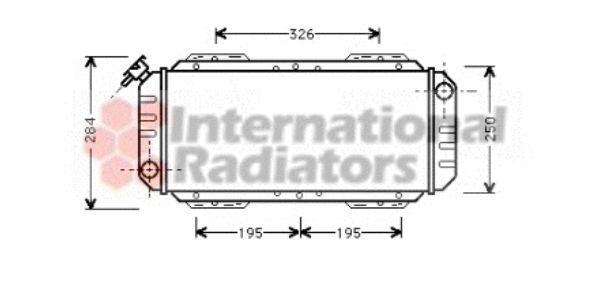 Radiateur, refroidissement du moteur - VAN WEZEL - 18002008