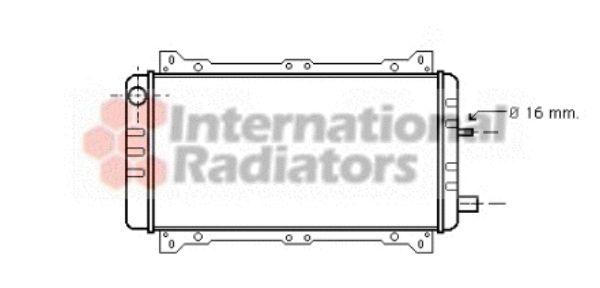Radiateur, refroidissement du moteur - VAN WEZEL - 18002047