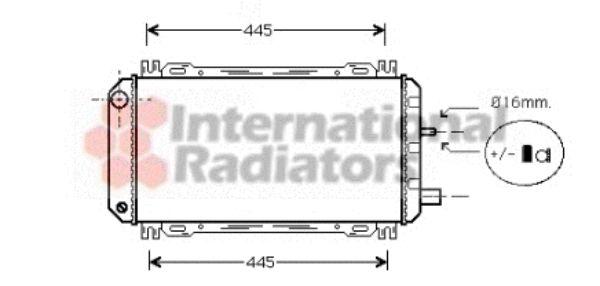 Radiateur, refroidissement du moteur - VAN WEZEL - 18002048