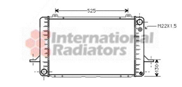 Radiateur, refroidissement du moteur - VAN WEZEL - 18002052