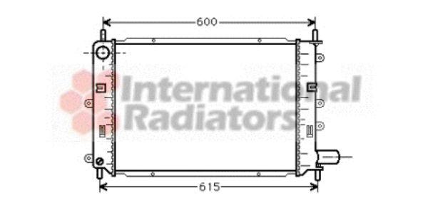 Radiateur, refroidissement du moteur - VAN WEZEL - 18002059